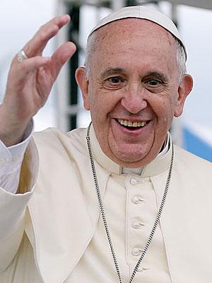 Papst Franziskus Größe