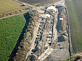 Luftaufnahme des Grabungsareals